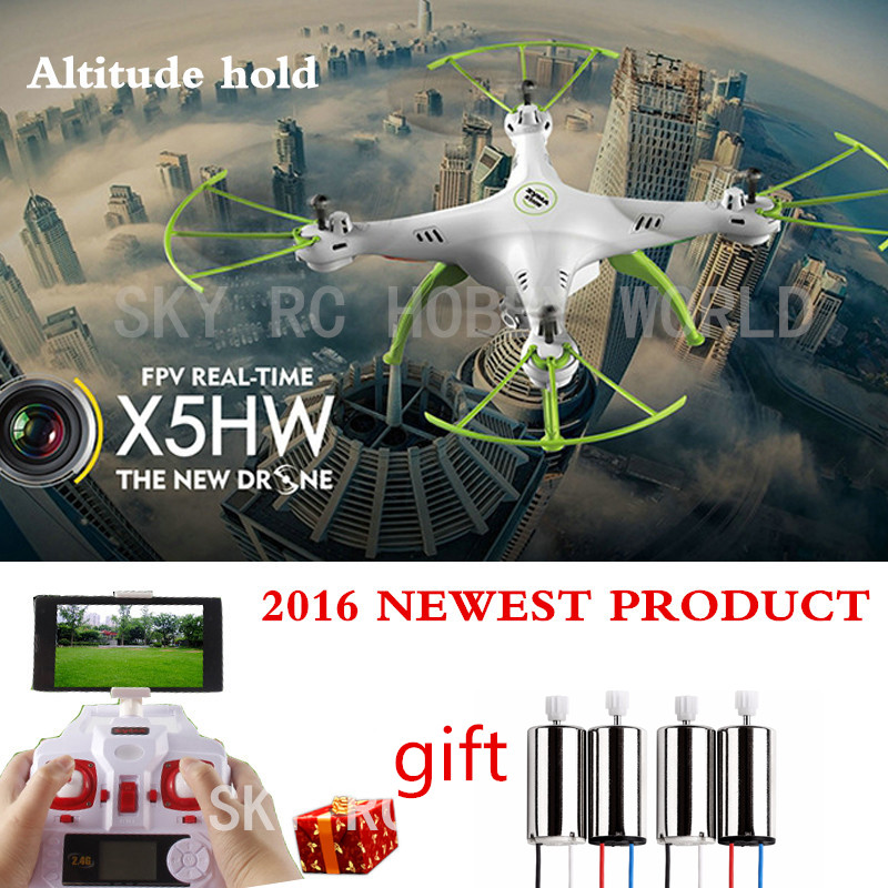 Original SYMA X5HW 4CH 2.4CH Rc Quadcopter Drone Helicopter Wifi Camera Transmission With Altitude High Hold Function syma x5hw selfies drone with hd camera wifi rc quadcopter set high headless mode dron rtf helicopter toys