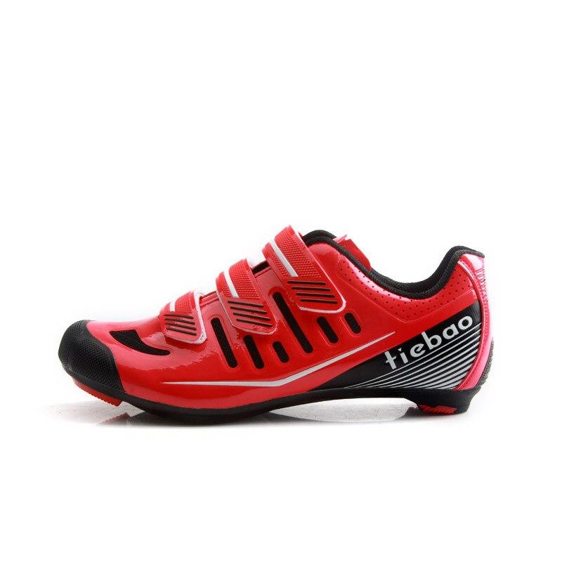 Tiebao nouveaux hommes chaussures de vélo de route anti-dérapant respirant chaussures de cyclisme Triathlon chaussures de Sport athlétique Zapatos bicicleta - 5