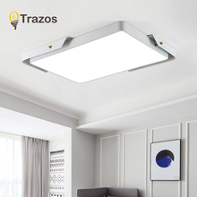 TRAZOS LED Ceiling Light Modern Lamp Living Room Lighting Fixture Bedroom Kitchen Surface Mount Flush Panel Remote Control цена