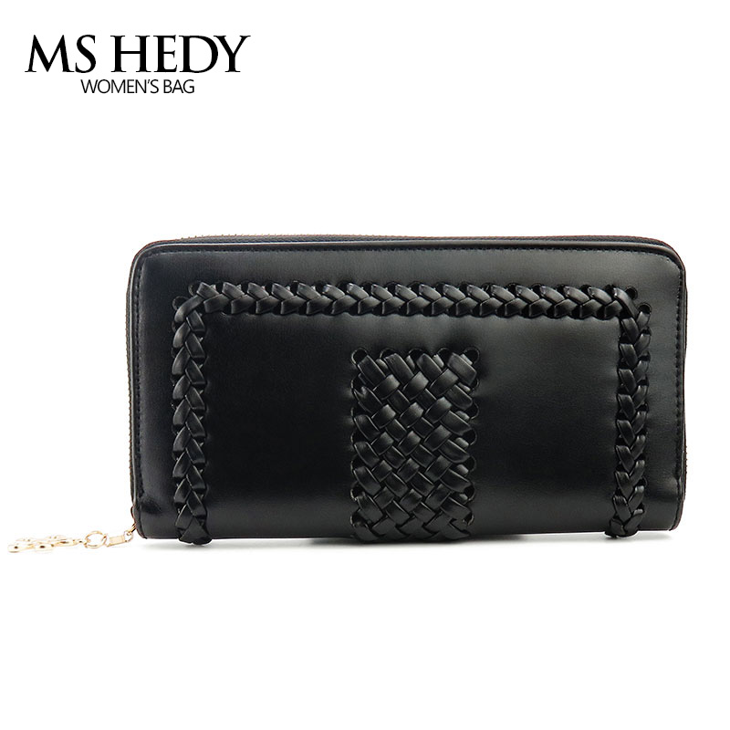 MS HEDY PU Leather Women Luxury Long Wallet Female Purse Handbag Large Capacity Card Holder Clutch Bag Clamp for Money