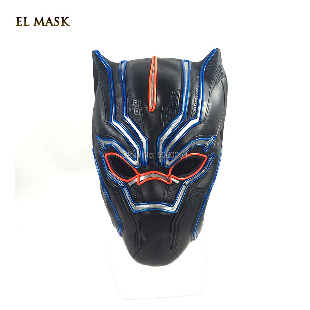 GZYUCHAO EL 10 couleurs Cosplay LED masque brillant activé par le son EL fil masque Costume pour les masques de danse rougeoyants Halloween décoration