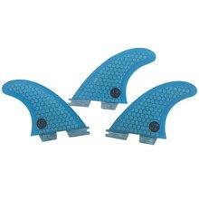 Surfboard fcs2 G5 fins red blue color Honeycomb Fibreglass fin Tri set