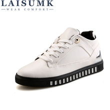 LAISUMK Winter Shoes Men Flats Warm Fur Lace-Up Casual Men Shoes Winter Leather Shoes Mens Casual Hot Sale Zapatos Hombre цена