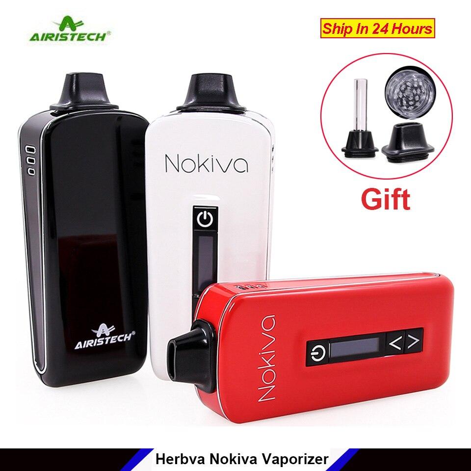 In Stock Original Airistech Herbva Nokiva Dry Herb Vaporizer Pen Kit ceramic coil heating chamber OLED