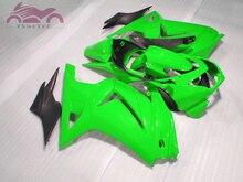 Kit de carenado de inyección para Kawasaki Ninja 250R 2008 2014 ZX250 kit de carenados de motocicleta deportiva EX250 08 14 piezas verdes