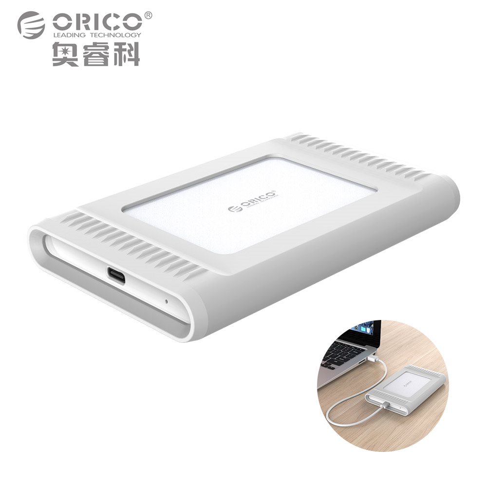 ORICO 2.5 inch 1TB USB3.1 Gen2 TYPE-C 10Gbps External Hard Drive HDD Desktop Laptop Mobile Hard Disk Outdoor Silver
