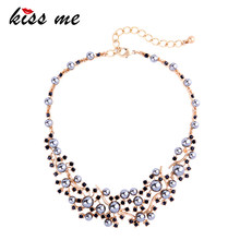 KISS ME White & Green Simulation Pearl Necklace Elegant Short Chain Choker Necklaces for Women Brand Jewelry(China)