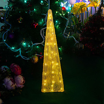 7 colours auto flashing festival LED Tower light - 51cm Tall christmas lights wedding decoration lighting festival party light luminous decoration wedding party column lamp colorful colonne lumineuse of tower landscape lighting