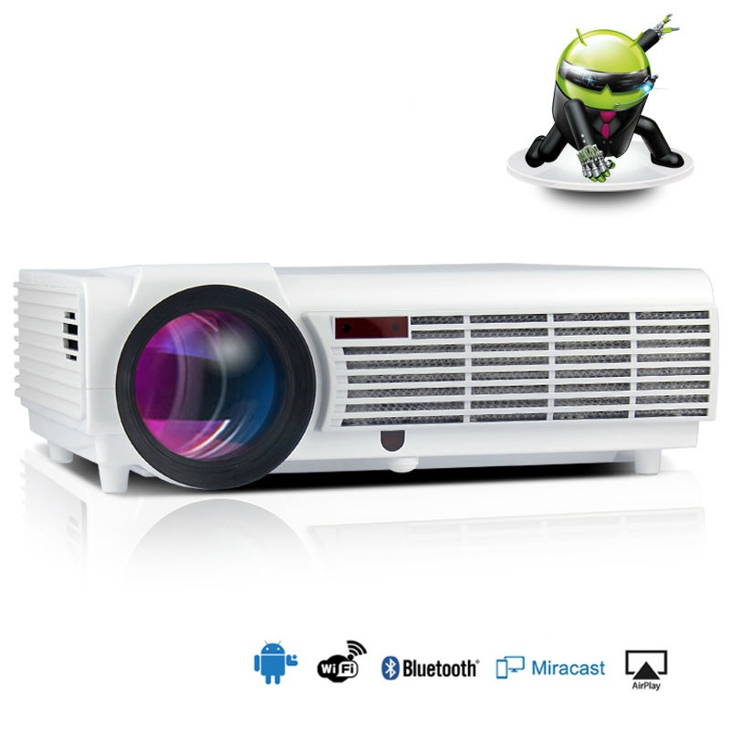 Gekwalificeerd Led96 + Bt96 Projector Android Wifi 1280*800 Full Hd 1080 P Video 3d Led Home Projector Lcd Beamer Vga Pls Lees De Bug In Details Redelijke Prijs