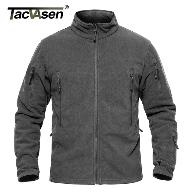 TACVASEN Men Winter Fleece Jacket Warm Military Tactical Jacket Men's Thermal Jacket Coat Autumn Army Clothing Plus Size