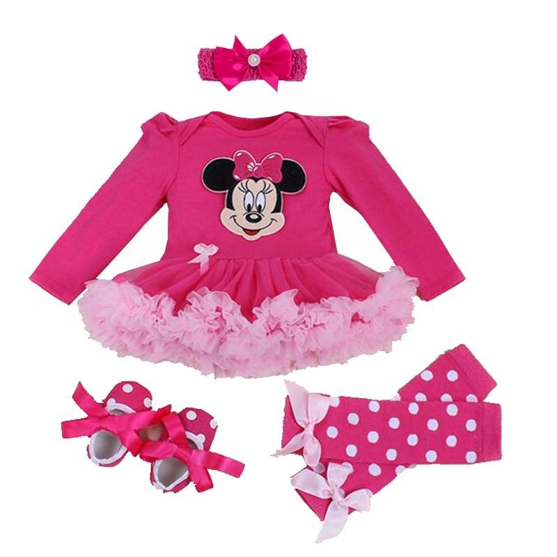 Zīdaiņu bērnu meitene Vasaras kostīms Jaunums Kostīms Bērnu kristību apģērbs Komplekti Bebe Rompers Dzimšanas dienas svinības Cosplay dāvana 3 6 9 12 18 24M