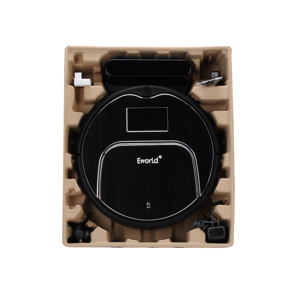 Eworld Wireless Vacuum Cleaner with Big Garbage Box , Big Mop,ABS and Aluminium Alloy Cleaning Robot M883 For Cleaning Floor free to europe eworld 2016 auto vacuum cleaners with robot vacuum cleaner mop with noise level less 50 db