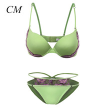 2017 Summer Women Push Up Sexy Bra Set Women 32 34 36 A B Cup Bra Set Underwear Lace Bra Sexy Lingerie Bra