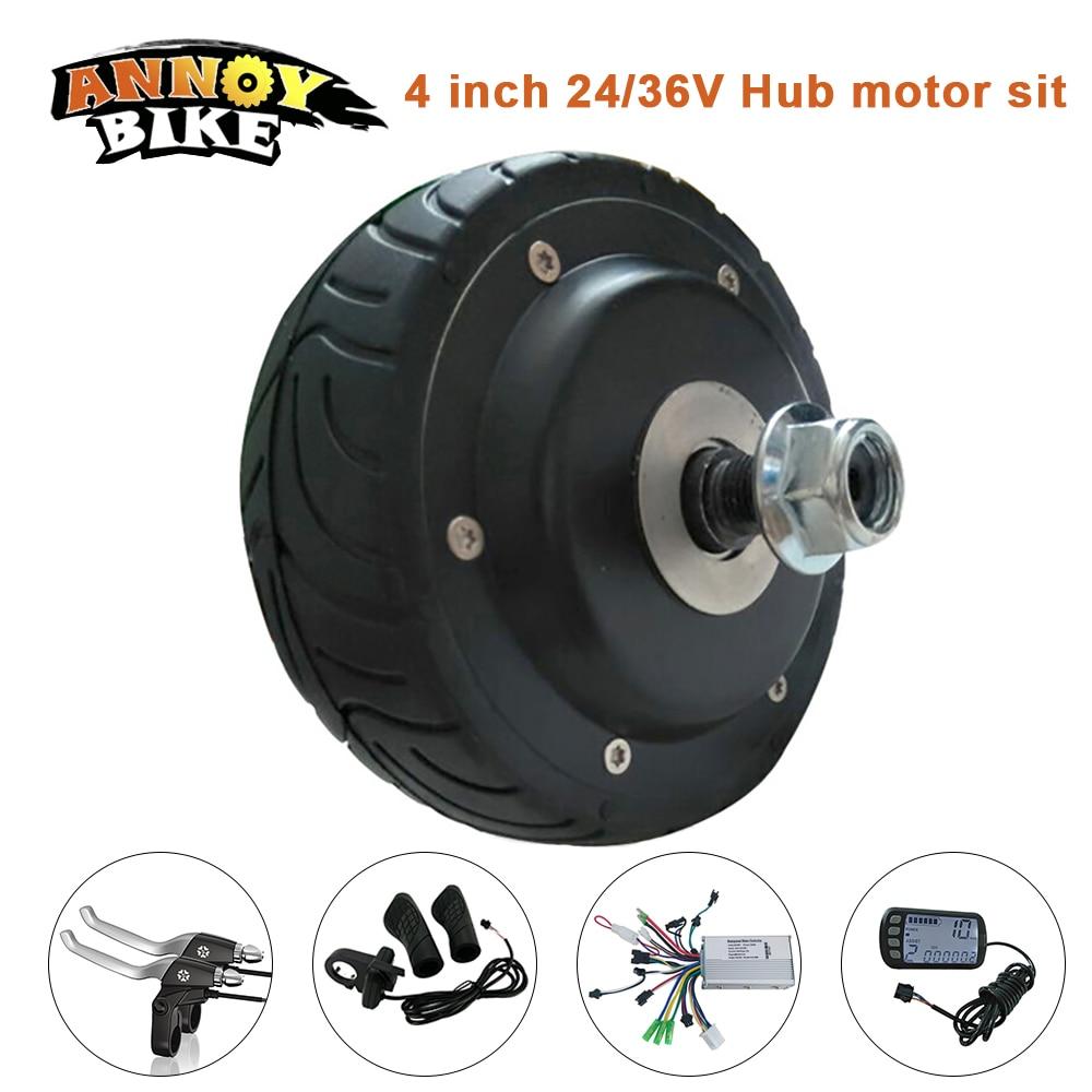 Electric bicycle motor 4 inch 24 36v 200w dc hub motor kit for Scooter hub motor kit