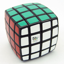 QJ Pillowed 4x4x4 Magic Cube White And Black Learning Educational Cubo Magico Toys Speeding Cube