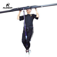 ALBREDA Tension Rope Exercise Sport Workout fitness Equipment Hanging Belt Chin Up Bar Training for Arms and Back Muscles