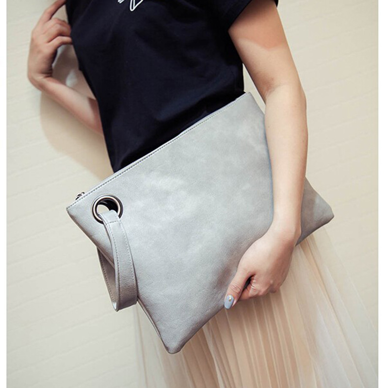 Fashion solid women's Day clutches High Quality PU leather ladies envelope Totes bags clutch evening bag female Clutches Handbag