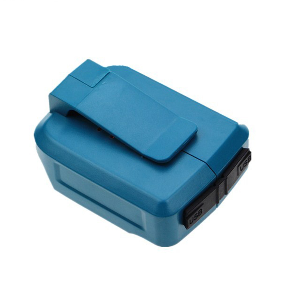 ELEOPTION USB Power Charger Adapter Converter and Devices Charger Compatible for Makita <font><b>18V</b></font> 14.4V Lithium-Ion battery DEAADP05 image