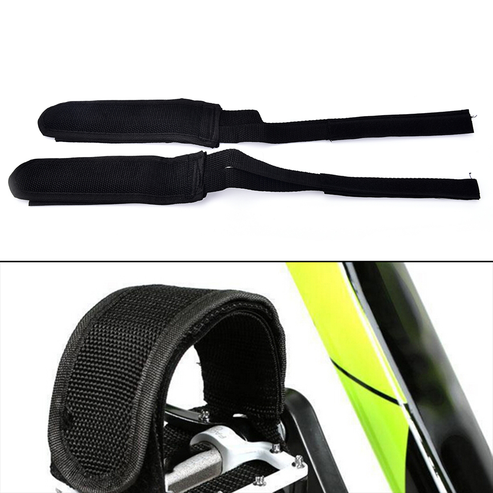 Brake pad assembly with Wellgo Nylon Toe Straps Brake Pad and Straps Spare Kit