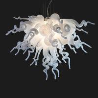 AC 110 v 120 v 220 v 240 v أدى ممتاز الأبيض الملونة اليد في مهب نمط مورانو الزجاج أضواء الثريا|chandelier lighting|glass chandelier lightingdale chihuly -