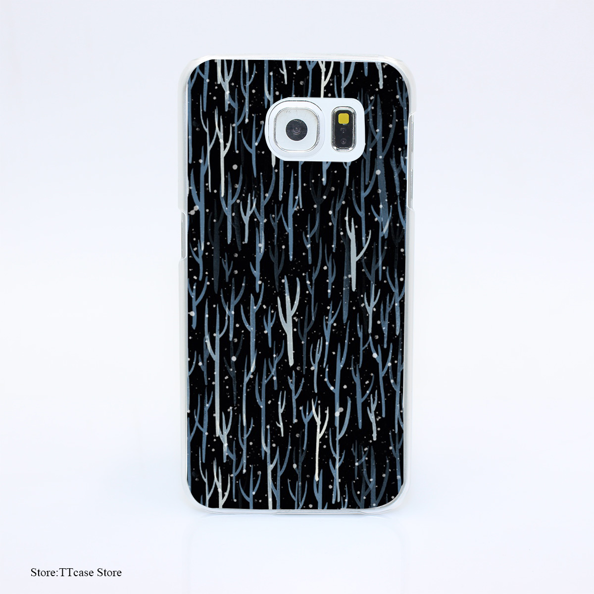 3169G Stopping By Woods On a Snowy Evening Print Hard Transparent Case Cover for Galaxy S3 S4 S5 & Mini S6 S7 & edge