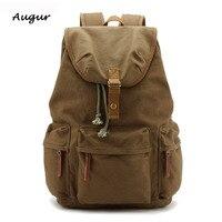 Canvas Leather Camera Bag Backpack Vintage Waterproof Photography Men S Backpacks Rucksack Men Shoulder Bags