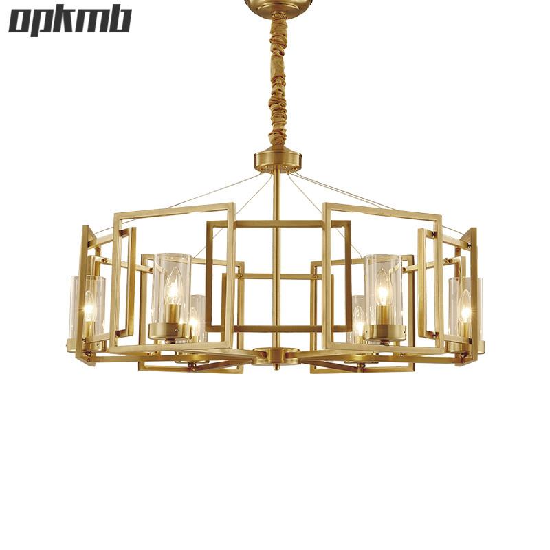 Amerikanischen Modernen LED Kronleuchter Beleuchtung Mit E14 Kreative Wohnzimmer Glas Luxus Kristall Lampe Fr Villa
