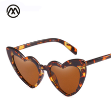 2018 Fashion Love Heart Sunglasses Women Cat Eye Vintage Brand Designer Black Pink Red Shape Sun Glasses For UV400