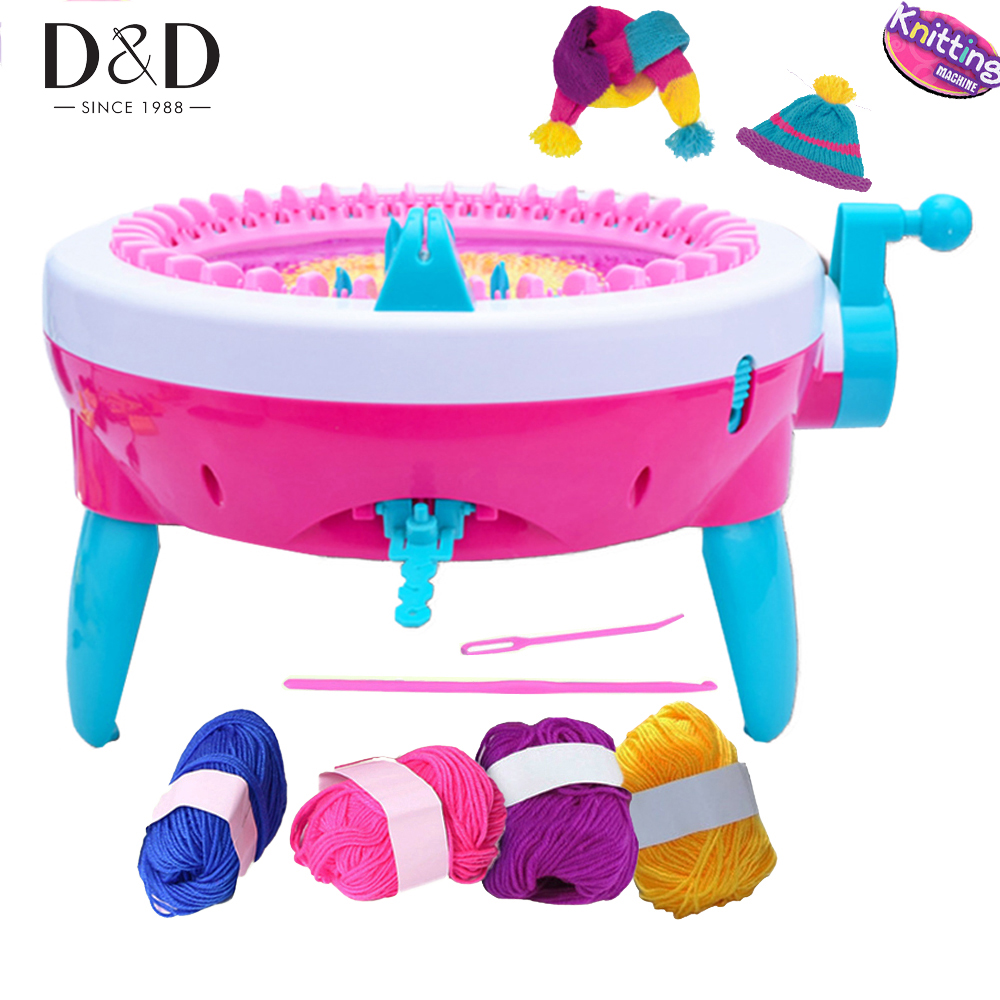 Fashion 40 Needles Children Knitting Machine DIY Craft Scarf Hat Weaver Loom Educational Toys Christmas New