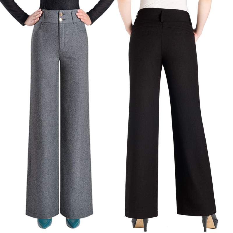 2018 new Spring and summer high waist Fashion casual plus size female women loose   wide     leg     pants   trousers clothes
