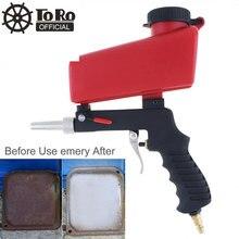 TORO Portable Sand Blaster Pneumatic Blasting Gun Sandblasting Upper Pot with Flow Adjustment Switch sandblasting gun