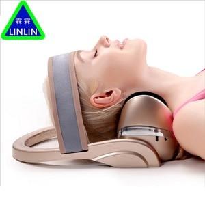 Image 4 - LINLIN Electric cervical massage apparatus Horizontal cervical tractor Massage pillow Neck spine Treatment of cervical vertebrae