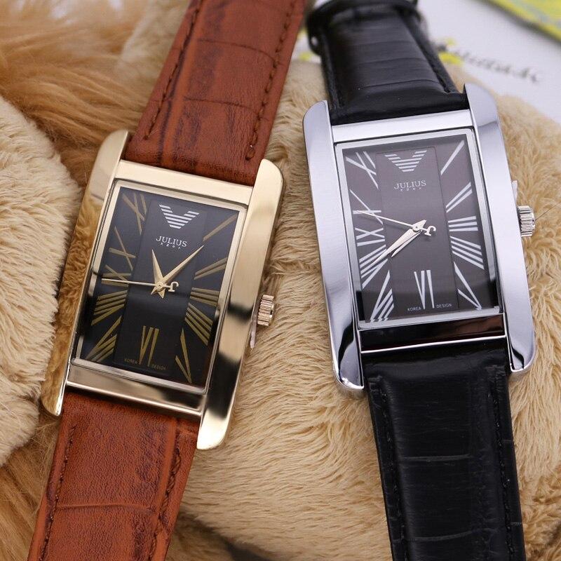 Homme Men's Watch Japan Quartz Hours Fine Fashion Clock Bracelet Leather Band Rome Boy Lover Birthday Father's Gift