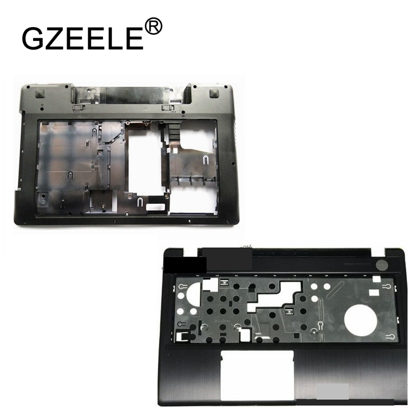GZEELE new bottom case Cover For Lenovo Z580 Laptop Series bottom case Z585 Base Bottom/ Palmrest COVER UPPER BLACK new case for lenovo z51 70 z51 v4000 500 15 y50c palmrest cover upper case c shell laptop bottom cover