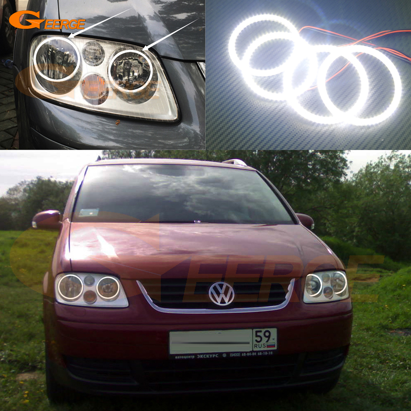 For Volkswagen VW Touran 2003 2004 2005 2006 Excellent led Angel Eyes Ultra bright illumination smd led Angel Eyes Halo Ring kit авита ру продать камаз зерновоз 2003 2005 года