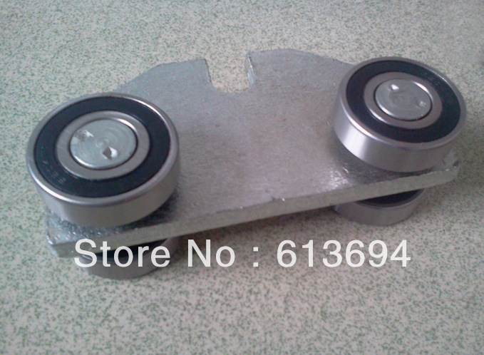 Sliding gate roller with four 6204ZZ bearings
