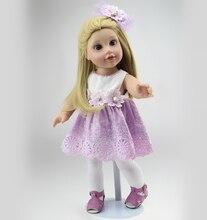 """18"""" Blonde Long Straight Hair AMERICAN GIRL Dolls Alexander Girl Dolls Toys Soft Girls Gift"""