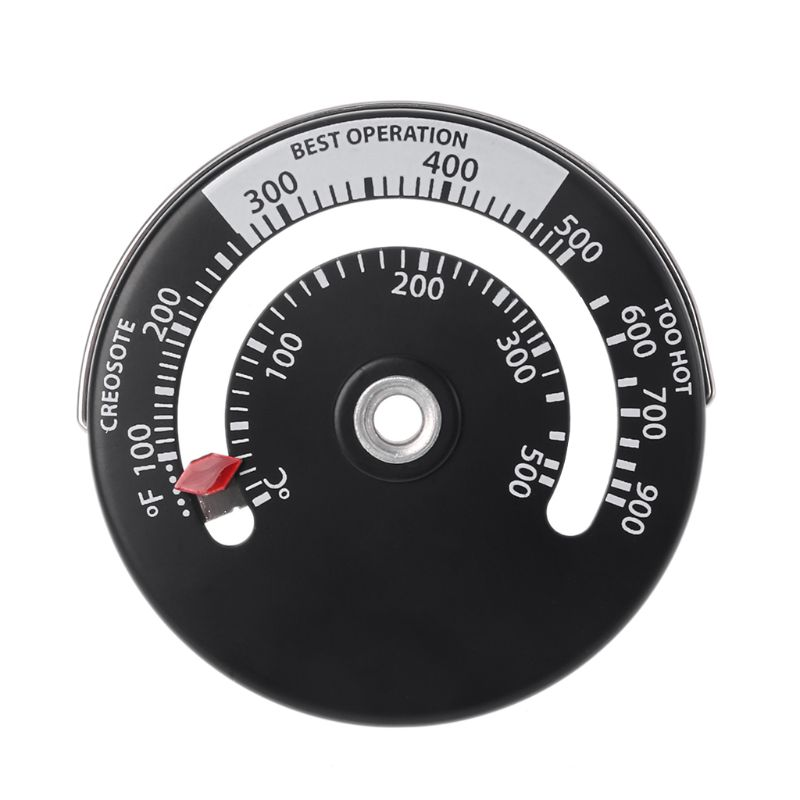 Magnetic Stove Flue Pipe Thermometer Multi Fuel Woodstove Woodburner Stove Pipe DEC06