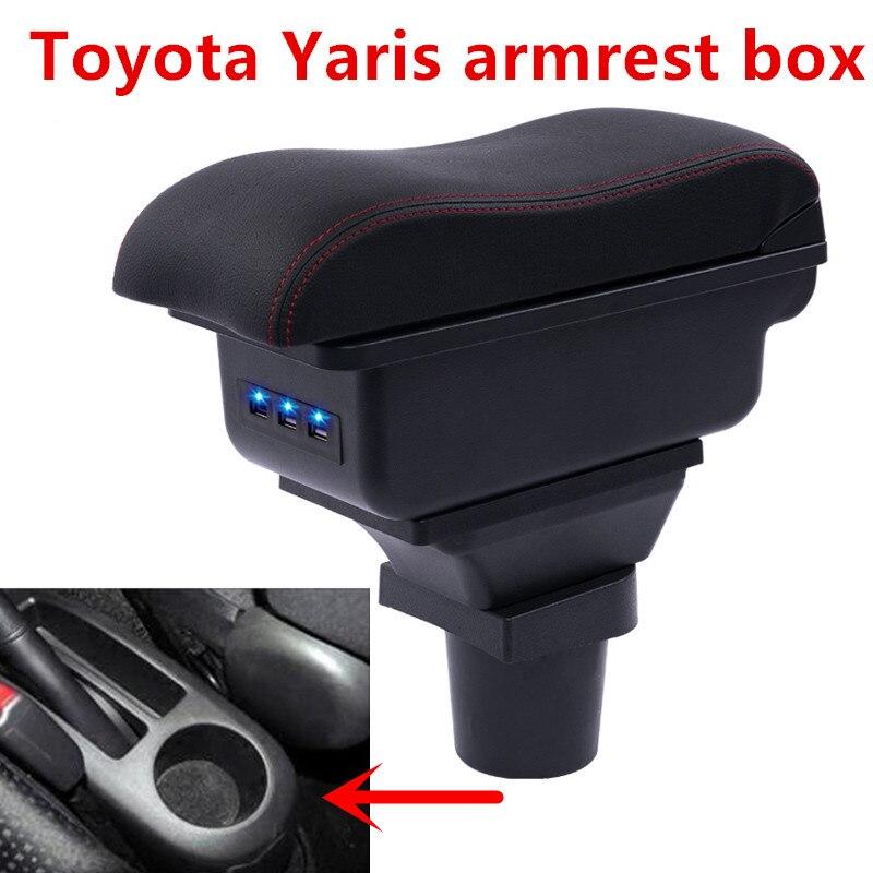 Centro Console Storage Box Per Toyota Yaris Vitz 2006-2011 Hatchback Bracciolo Bracciolo Ruotabile di 2007 2008 2009 2010