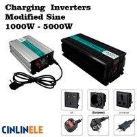 Smart Зарядное устройство модифицированная синусоида инвертор 1000 Вт 5000 Вт DC 12 В 24 В 48 В к AC 110 В 220 В 1500 Вт 2000 Вт 3000 Вт 4000 Вт Солнечный Мощность авт