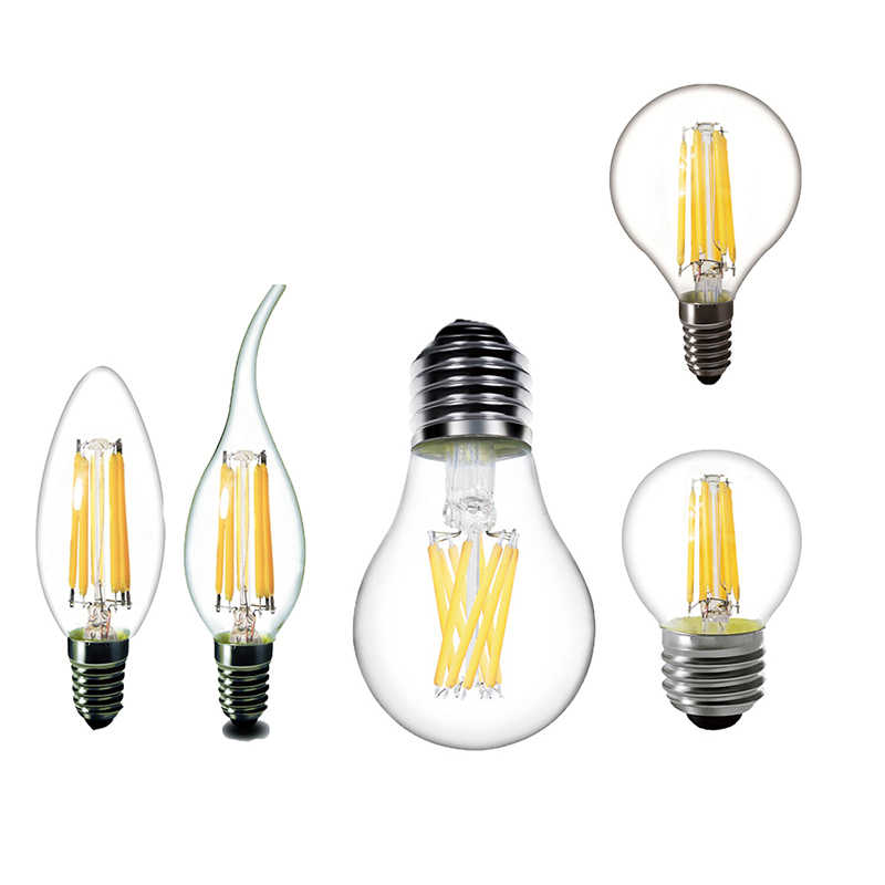 Led Bulb E14 Led Candle Light Bulb Chandelier 220V E27 LED Filament Bulb Vintage Filament Lamp Replace 20W 30W 40W Incandescent
