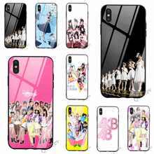 Protective AKB48 Tempered Glass Phone Case for iPhone 6S Cover 8 XR X 7 Plus 6 5 5S SE Xs Max 11 pro Soft(China)