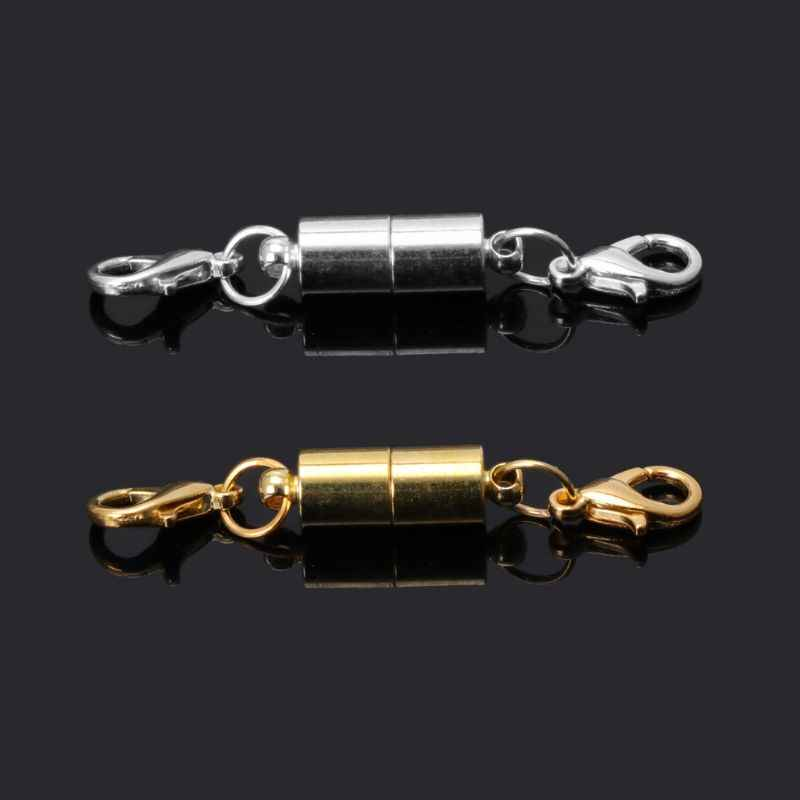 BELTI 5x Stainless Steel Ball Square Shape Magnetic Clasp Converter for Jewelry Making