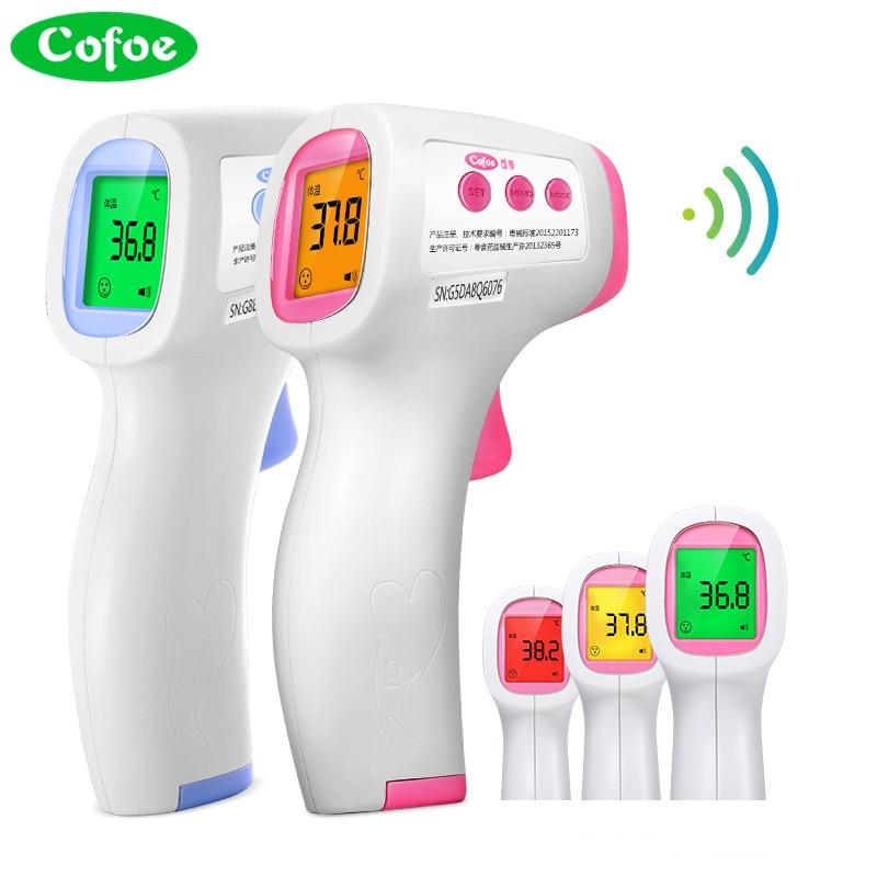 Cofoe Elettronico Digitale termometro Auricolare A Infrarossi Del Corpo di febbre del Termometro Senza contatto di Temperatura Strumento di Misura