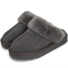 wool and fur in one slippers female thickening thermal home lovers flat plus size cotton lady funky slipper