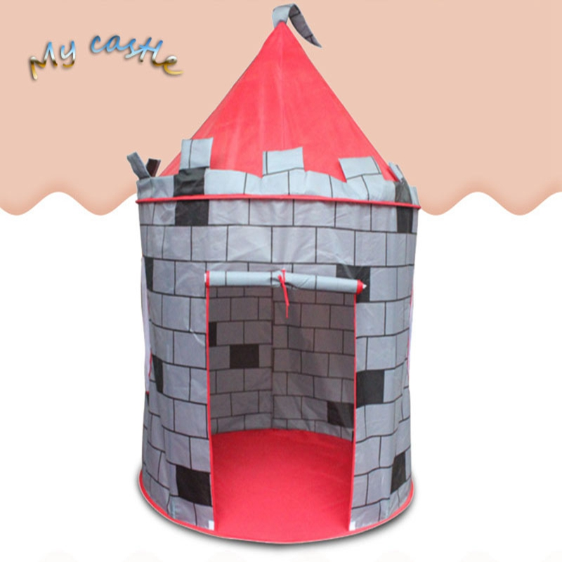 Portable Foldable Tipi Prince Folding Tent Children Castle wall yurts tents Play House Kids Gifts Outdoor