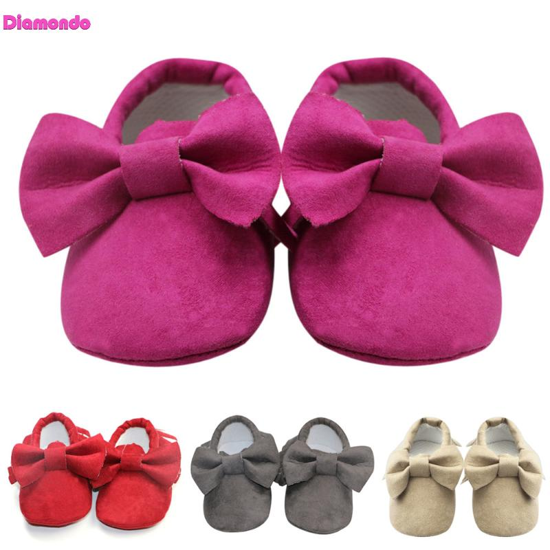 2018 Fashion Infant Newborn Baby Shoes Newborn Leather Fringe Crib First Walkers Soft Soled Non-Slip Prewalkers 4 Colors 0-18M
