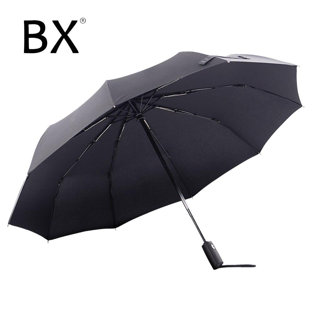 Paraguas grande Bachon para mujer, paraguas a prueba de viento, paraguas plegable, totalmente automático, para hombres y mujeres