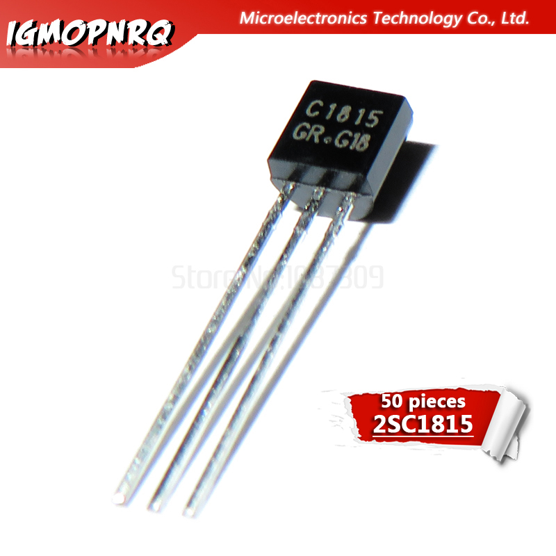50 Uds C1815 2SC1815 transistores bipolares-transistores de empalme PNP Gen Pr Amp-92 nuevo original