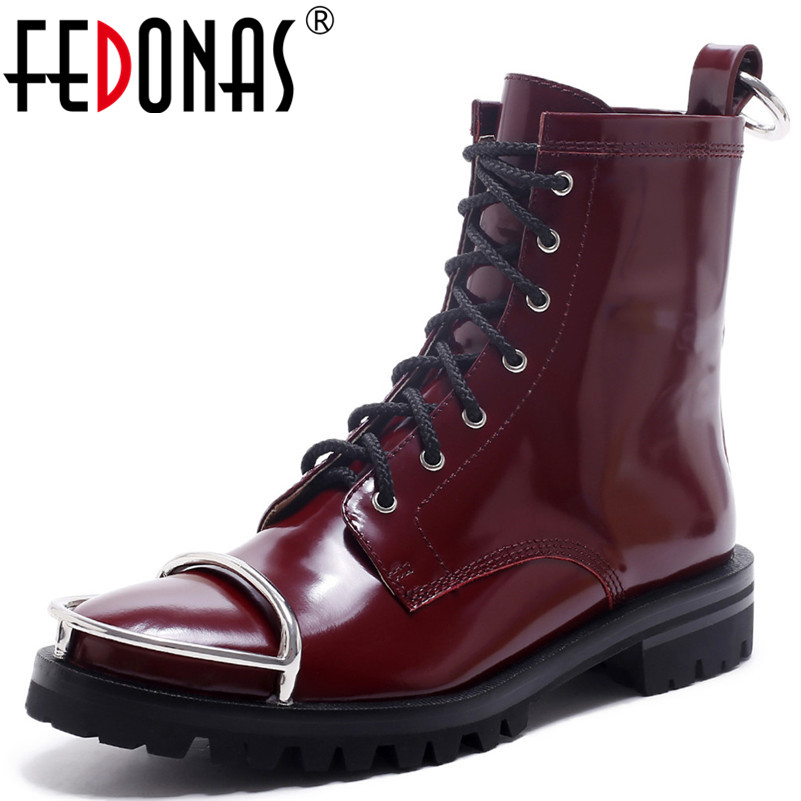 FEDONAS Fashion Sexy Women Motorcycle Boots Corss-tied Short Autumn Winter Ladies Shoes Woman Genuine Leather Buckles Boots  FEDONAS Fashion Sexy Women Motorcycle Boots Corss-tied Short Autumn Winter Ladies Shoes Woman Genuine Leather Buckles Boots